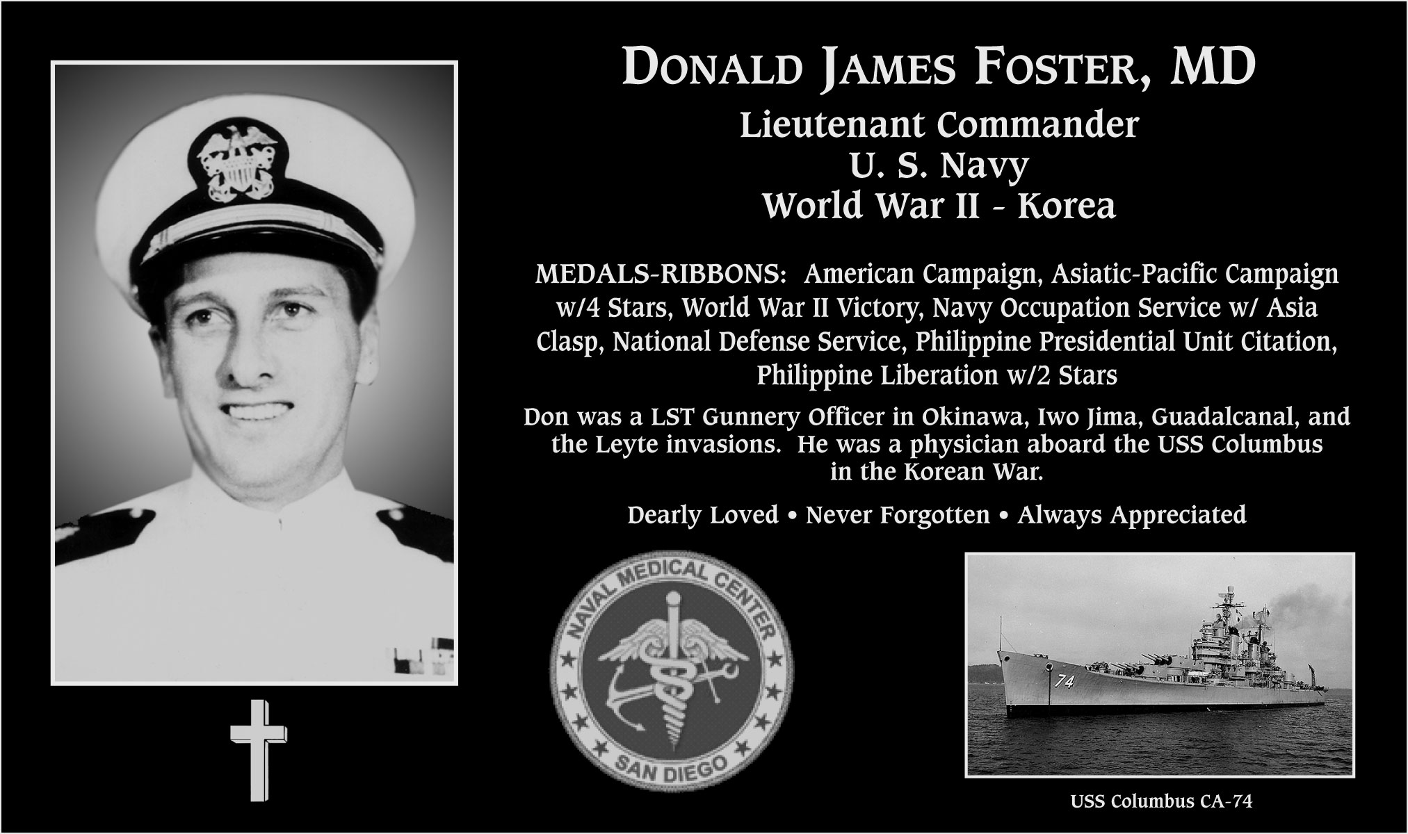 Donald James Foster, M.D.