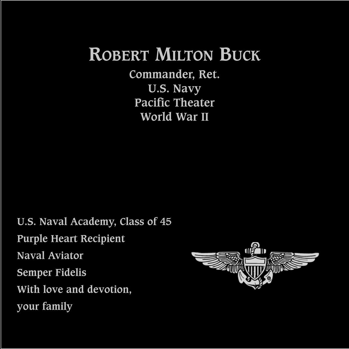 Robert Milton Buck