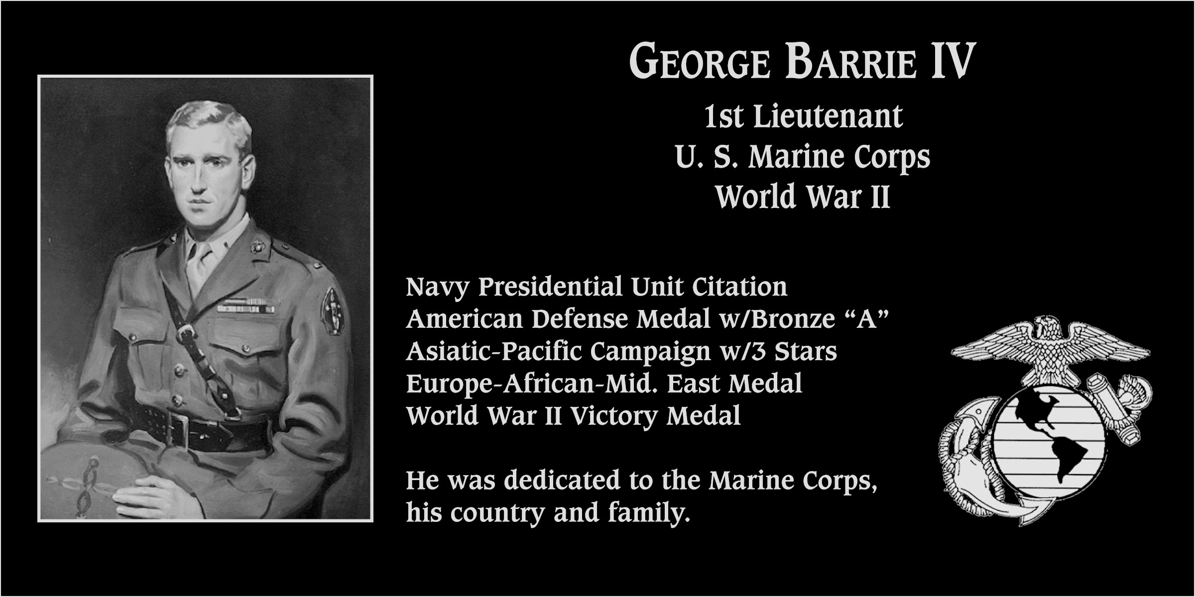George Barrie, IV