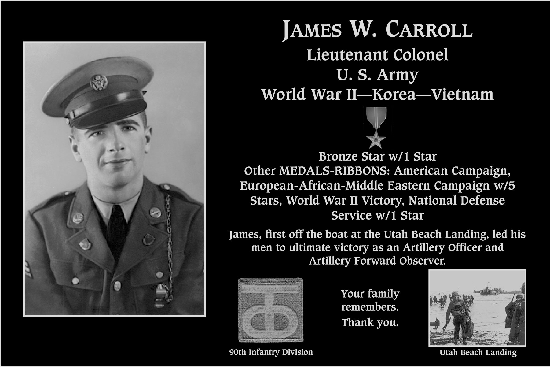 James W. Carroll, M.D.