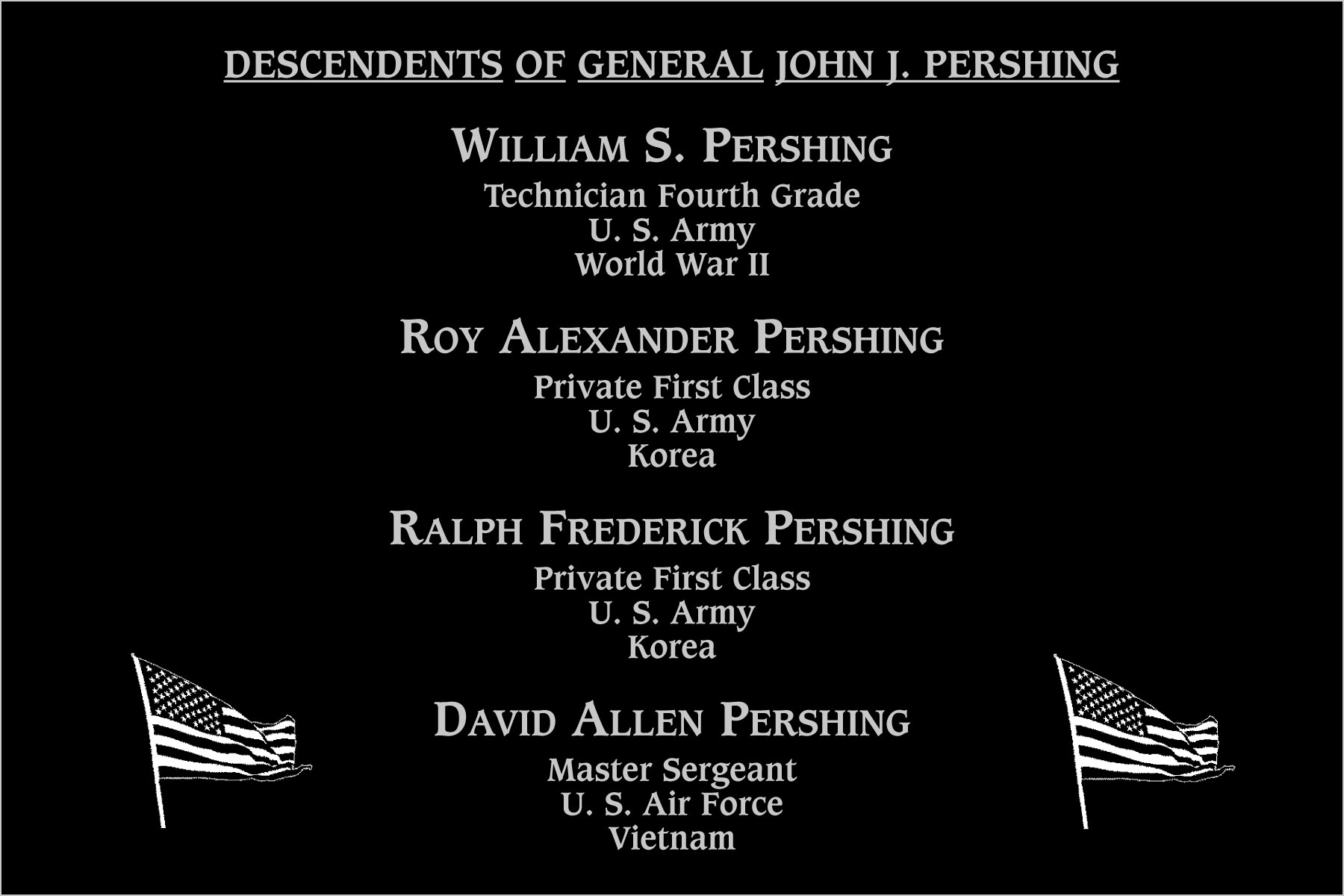 Descendents of Pershing