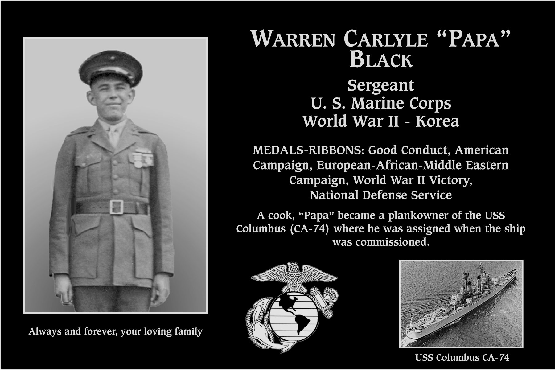 Warren Carlyle Black
