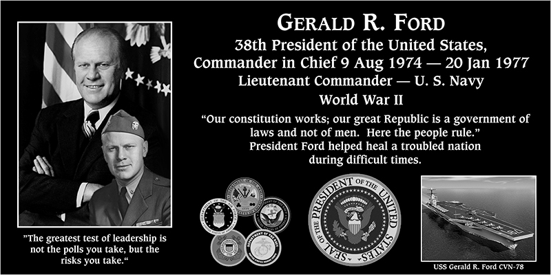 "Gerald R. ""38th President of the United States of America"" Ford"