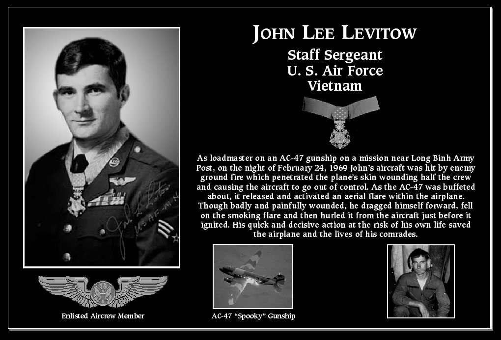 "John Lee ""Medal Of Honor Recipient"" Levitow"