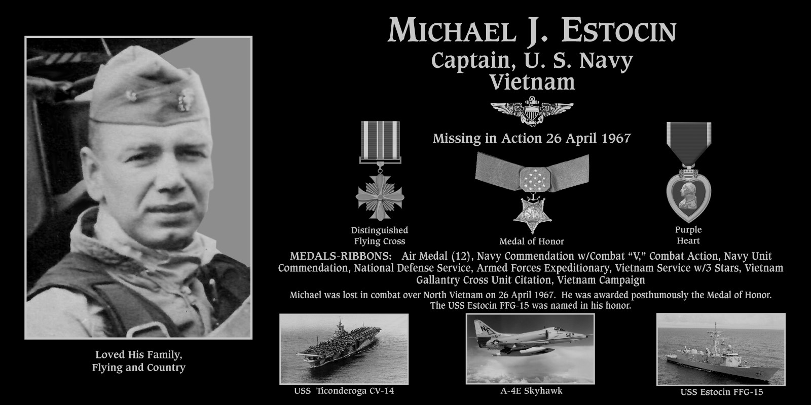 "Michael J. ""Medal Of Honor Recipient"" Estocin"