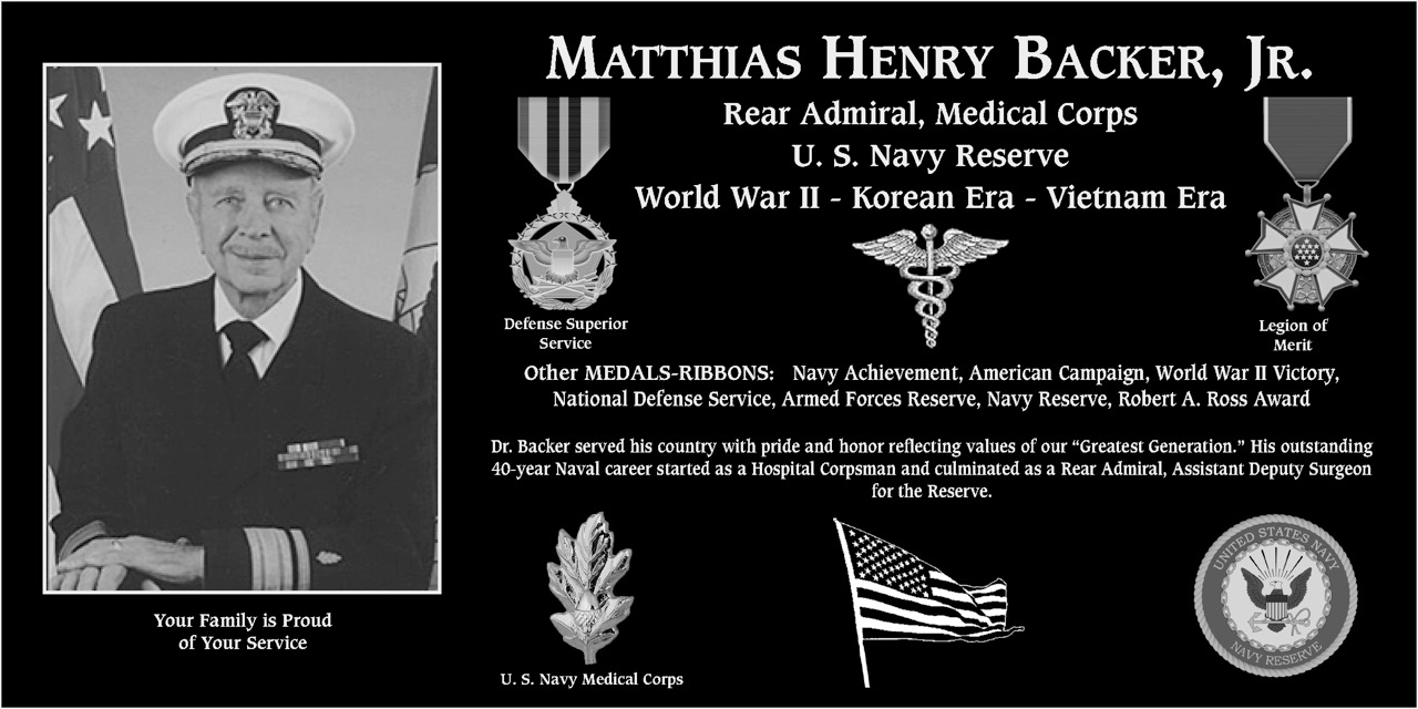 Matthias Henry Backer, Jr.