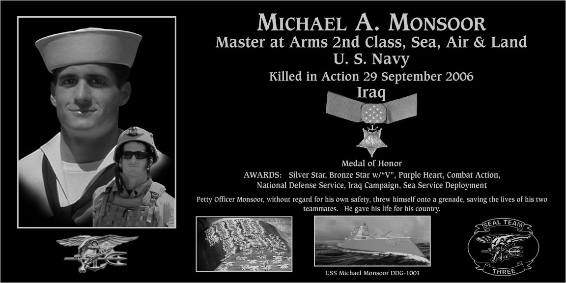 "Michael A. ""Medal Of Honor Recipient"" Monsoor"