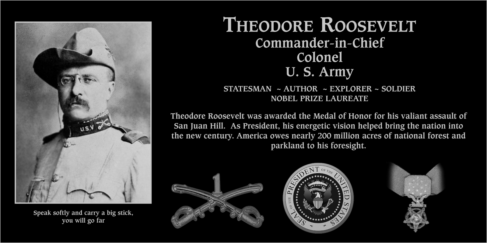 "Theodore ""Medal Of Honor Recipient"" Roosevelt"