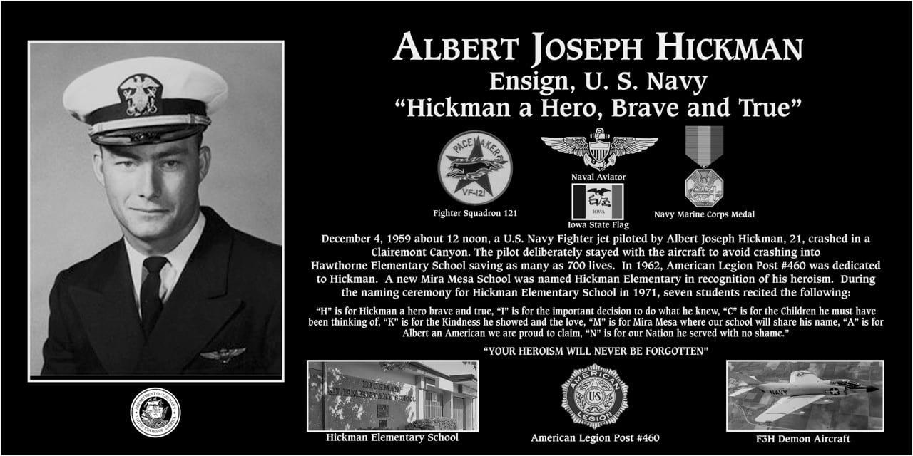 Albert J Hickman Memorial