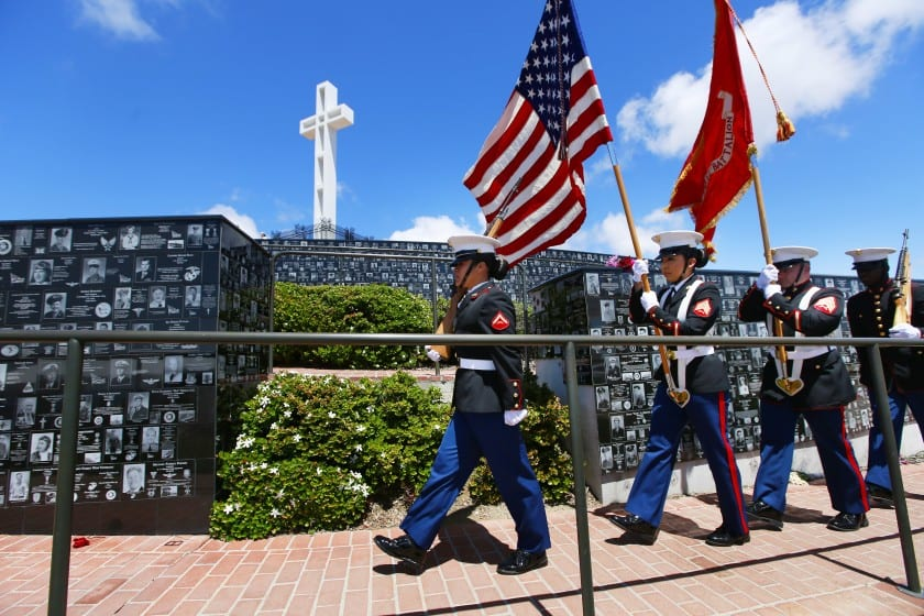 Mt Soledad Memorial Veterans Day 2019