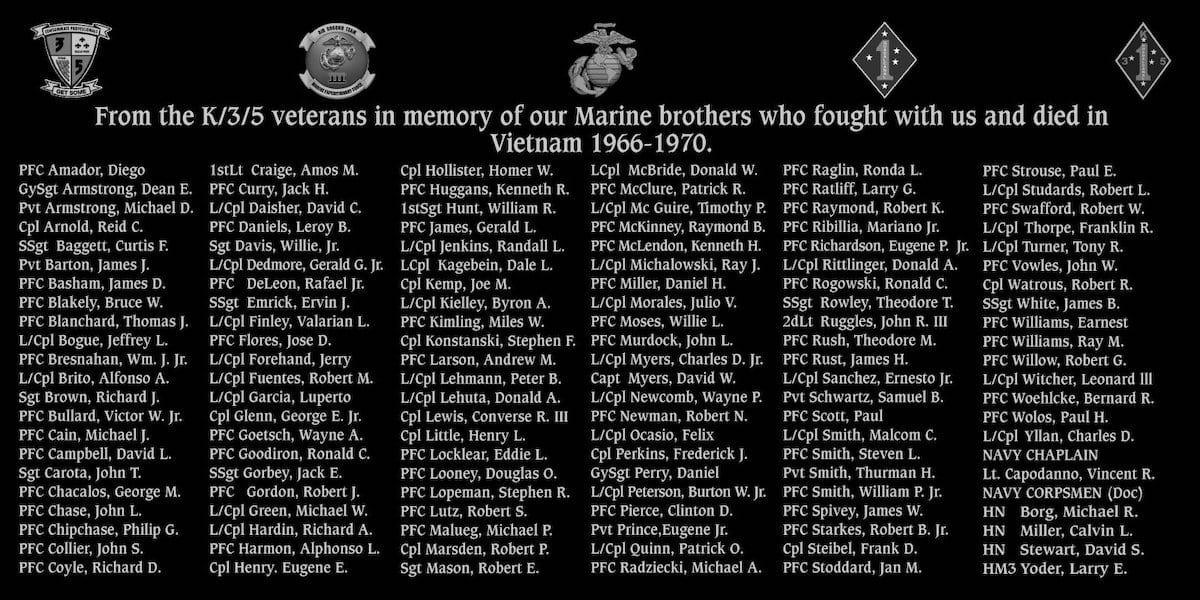 3rd Battalion 5th Marines, Kilo Company Vietnam