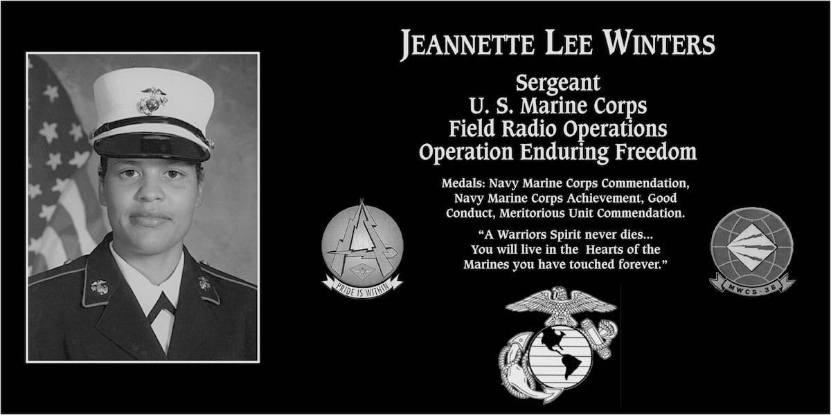 Sgt. Jeannette Lee Winters